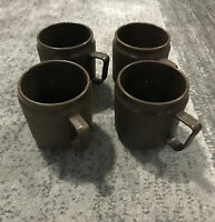 Vintage Brown Mid Century Modern MCM Insulated Coffee Cups/Mugs Therma-mug