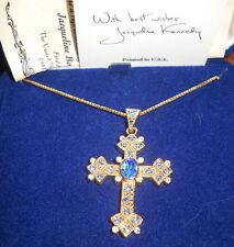 Camrose & Kross Jacqueline Jackie Kennedy Queen Mother's Cross Pendant Box
