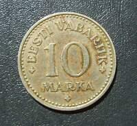 nbc5.3. Estland ESTONIA 10 MARKA 1925 Nickel-Bronze coin munze Eesti Vabariik