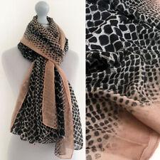 Ladies Large Snakeskin Scarf Leopard Print Animal Pink Shawl Wrap Long Leopard