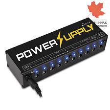 Guitar Pedal Power Supply 10 Isolated DC Output for 9V 12V 18V Effect Pedal