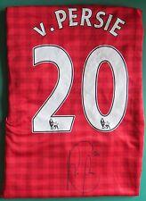 Robin van Persie Signed Manchester United Football Shirt unframed AFTAL RD#175
