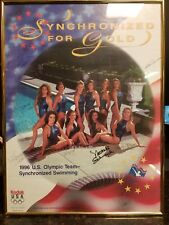 1996 Olympic Synchronized Swimming Team Poster Signed Rare!