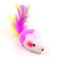 4pcs Fell in Maus Katzenspielzeug mit Federn und Katze (Zufaellige Farben F k12l