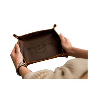 Valet Tray Leather Brown Anniversary Gift