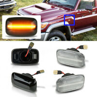 LED Side Fender Marker Indicator Light For Toyota Land Cruiser 70 80 100