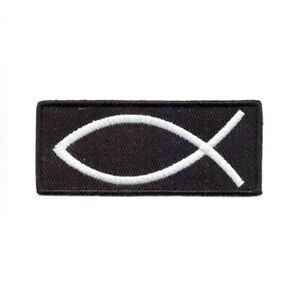 Ichthys Jesus Fish Christian Embroidered Patch - Iron On/Sew On