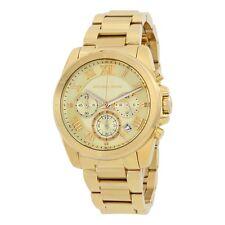 MICHAEL KORS Brecken Gold Tone Chronograph Bracelet Watch  MK6366   NEW