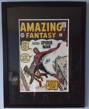 Stan Lee Signed Spiderman Amazing Fantasy Comic 22x28 Framed Print *Superb*