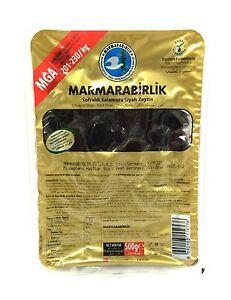 Marmarabirlik Mega schwarze Oliven natürlich fermentiert 500g - Siyah Zeytin