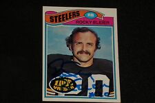 ROCKY BLEIER 1977 TOPPS SIGNED AUTOGRAPHED CARD #281 PITTSBURGH STEELERS