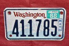 Fine, Authentic NATURAL 1988, 88 WASHINGTON, WA Motorcycle License Plate 411785