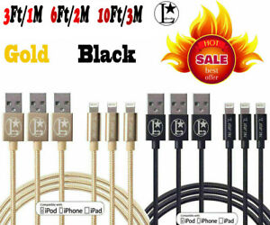 iphone Charger Nylon USB Charging Cable For iPhone 6 7 8 Plus 11 X iPad Charger