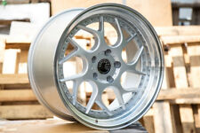 Aodhan DS01 18x9.5 +30 5x114.3 Silver w/ Machined Lip (Set of 4)
