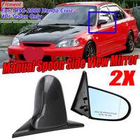 For Honda Civic EK 96-00 4DR Carbon Look Manual Adjustable Side View