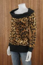 FASHION MAGAZINE Size M Pullover Long Sleeve Leopard Sweater