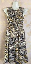 Designer Gottex leopard print cold shoulder beach dress-SIZE UK S BNWT