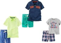 Carter's Baby Boys 2 Pc Shirt & Shorts Set NWT  Yellow  Navy or  Gray   3 Months