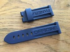 OFFICINE PANERAI OEM 22mm BLUE RUBBER STRAP FOR TANG BUCKLE