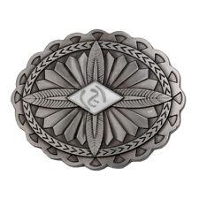 c2f4d2cef25 boucle de ceinture vintage celtique western boucle de cow-boy argenté