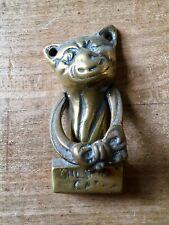 Brass Door Knocker Cheshire Cat Hardware Salvage Vintage Small