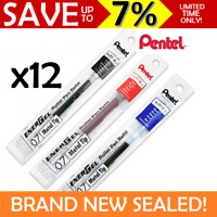 12x Pentel EnerGel Pen Refills 0.7mm LR7-A LR7-B LR7-C for BL77 BL80 BL57 BL407