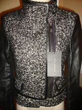 GORGEOUS, SOLD OUT, NWT ZARA WOOL JACKET WITH BLACK LEATHER DETAILING