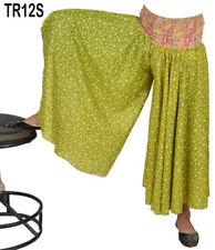 10 Vintage Sari Palazzo Pants Printed Boho Gypsy Trousers TR12S