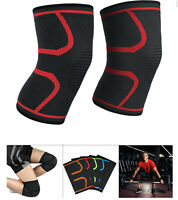 2pcs Elastic Compression  Sleeve Knee Support Brace Knee Pads Basketball Running