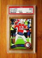2011 Topps Gold #400 TOM BRADY - #/2011 - PSA 9 MINT