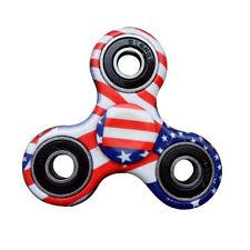 USA Hand Spinner Fidget EDC Tri Toy Camo American Flag Red White Blue Patriotic