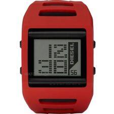 DZ7226 Nuovo Originale Cronografo Sveglia Digitale DIESEL Rosso in Silicone Orologio £ 129