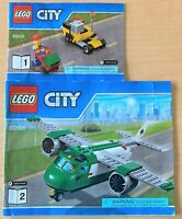 Lego City 60101: Airport Cargo Plane - INSTRUCTION MANUALS ONLY