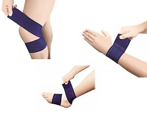 Compression Wraps Reusable Pain Support Bandage Injury Knee Wrist Ankle Wrap
