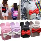 PU Leather Backpack Women's School Shoulder Bag Travel Rucksack Satchel Handbag