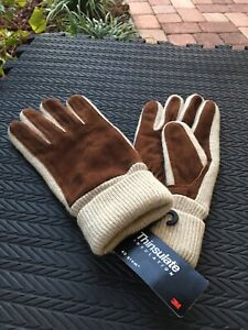 Polo Ralph Lauren Thinsulate 3m Lambswool Knit Gloves L/XL - NEW - FREE SHIPPING