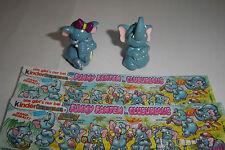 "★★★ 2 Ü-Ei Figuren ""Funny Fanten im Cluburlaub"" 1995 + BPZ"