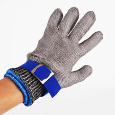 Safety Cut Proof Stab Resistant Stainless Steel Metal Mesh Butcher Glove Size S
