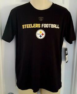 PITTSBURGH STEELERS Youth T Shirt Size Large 14/16 Black Tee NFL Equipment New