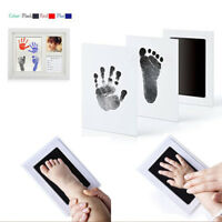 Safety Non-Toxic Baby Keepsake Footprint Handprint Ink Pad Frame Touch Inkless