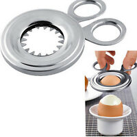 Egg Cutter Stainless Steel Boiled Egg Topper Egg Opener Kitchen Gadget Tool N MW