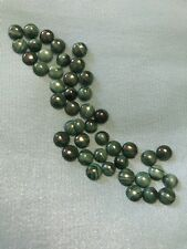 48 Green Moss Agate Cabochon Stones