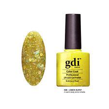 "gdi nails ""Lemon Burst GDIKK06 "" Yellow Diamond Glitters UV LED Nail Gel Polish"