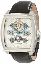 New Mens Stuhrling Original Exposition Automatic Skeleton Watch $525 Moon Dial