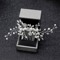 Pearl Hair Comb Clips Wedding Bridal Headdress Hairpins Hair Accessories