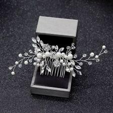 Pearl Hair Comb Clips Wedding Bridal Headdress Hairpins Hair Accessories
