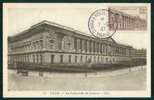 FRANCE MK 1947 UPU PARIS LOUVRE MAXIMUMKARTE CARTE MAXIMUM CARD MC CM af11