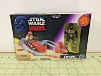 "Star Wars Shadows of the Empire ""Swoop"" & vehicle! Sealed, FREE ship 69760"