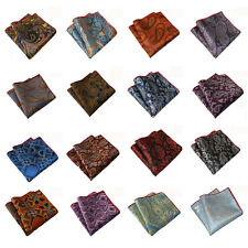 Men Fashion Paisley Floral Hanky Pocket Square Wedding Party Handkerchief NEW