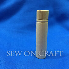 Wood Needle Case Small Tube Container Bead Craft